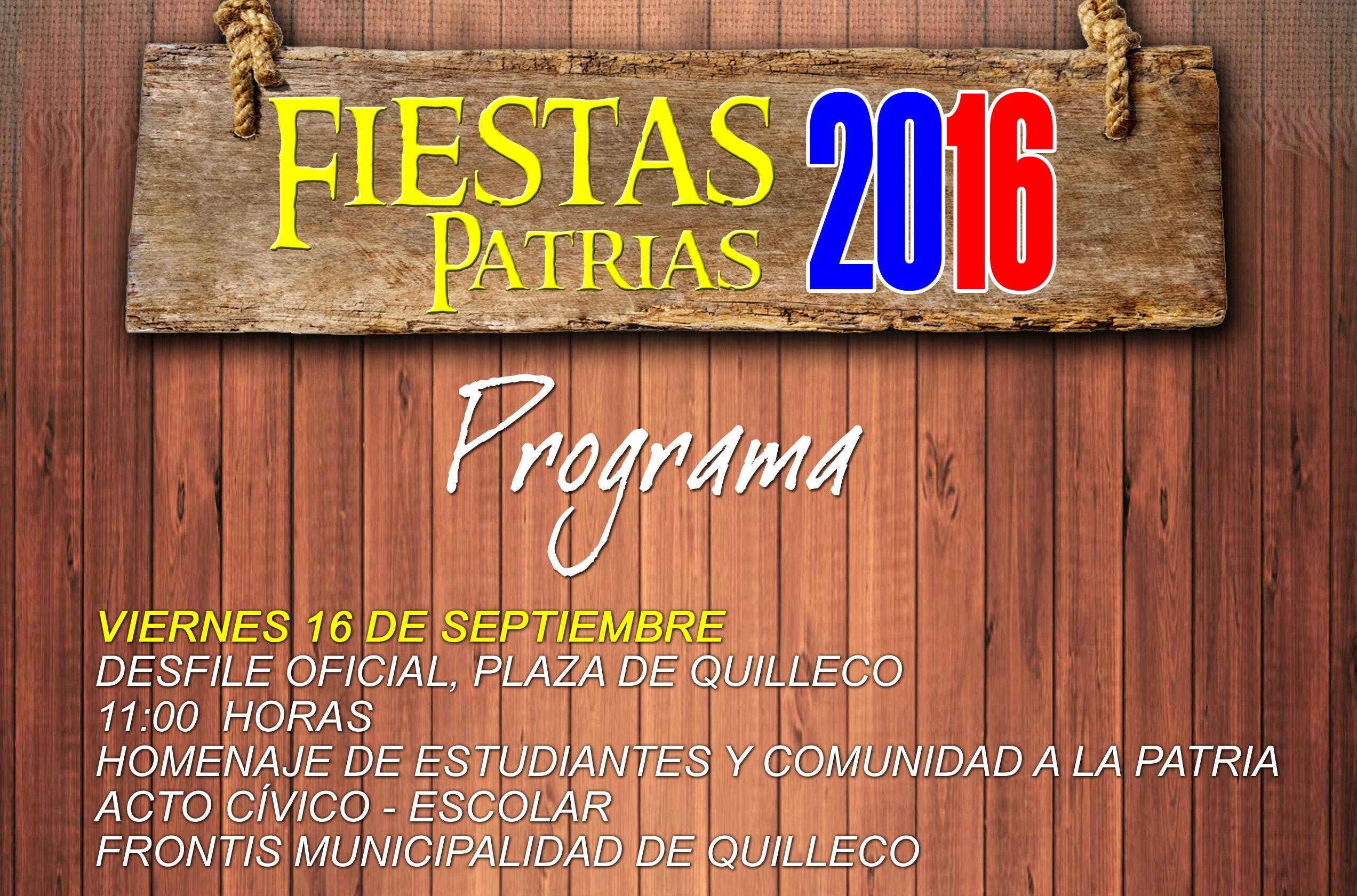 PROGRAMA FIESTAS PATRIAS 2016