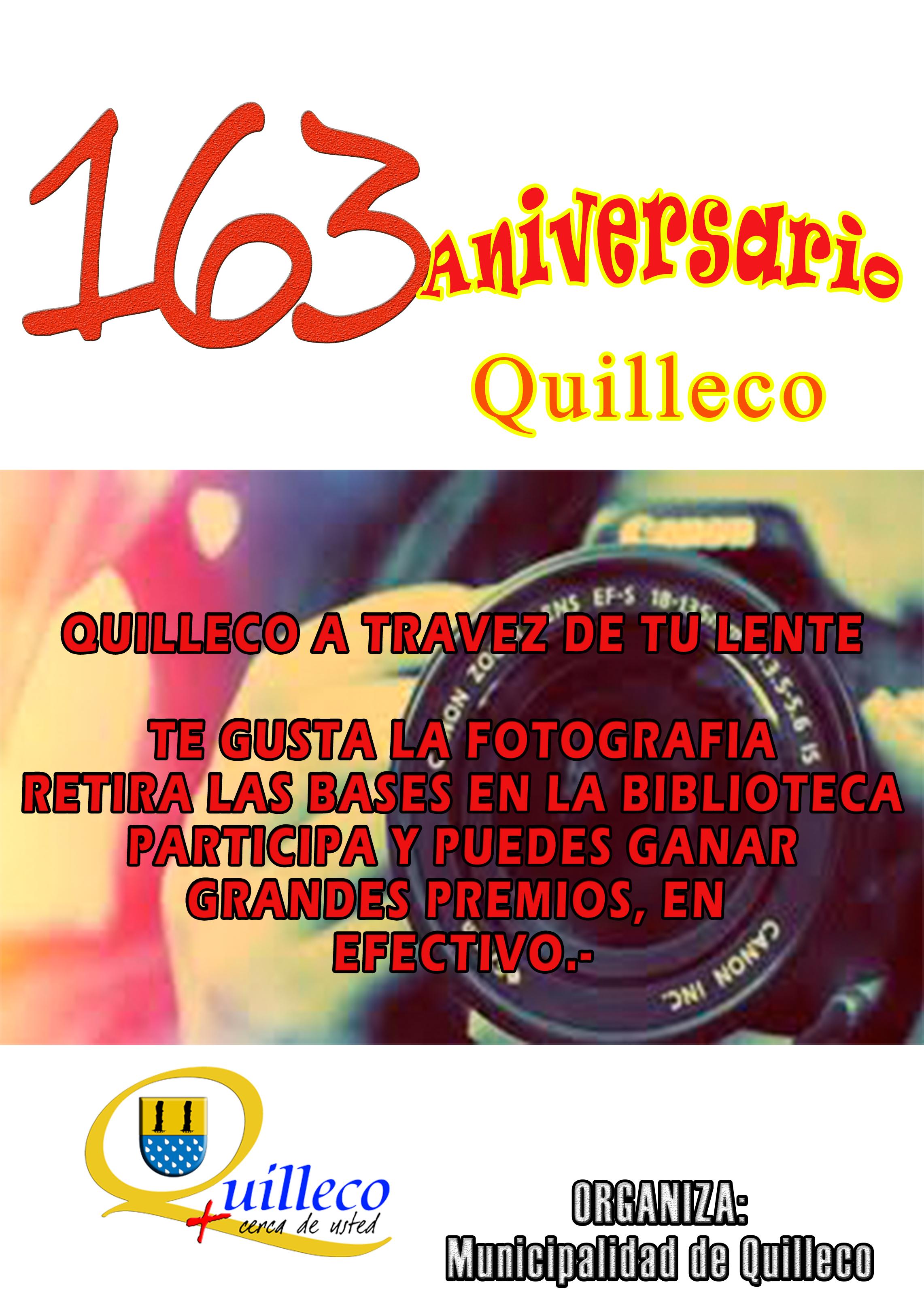 2º Concurso de Fotografia  – CONCURSO ANIVERSARIO 163 QUILLECO