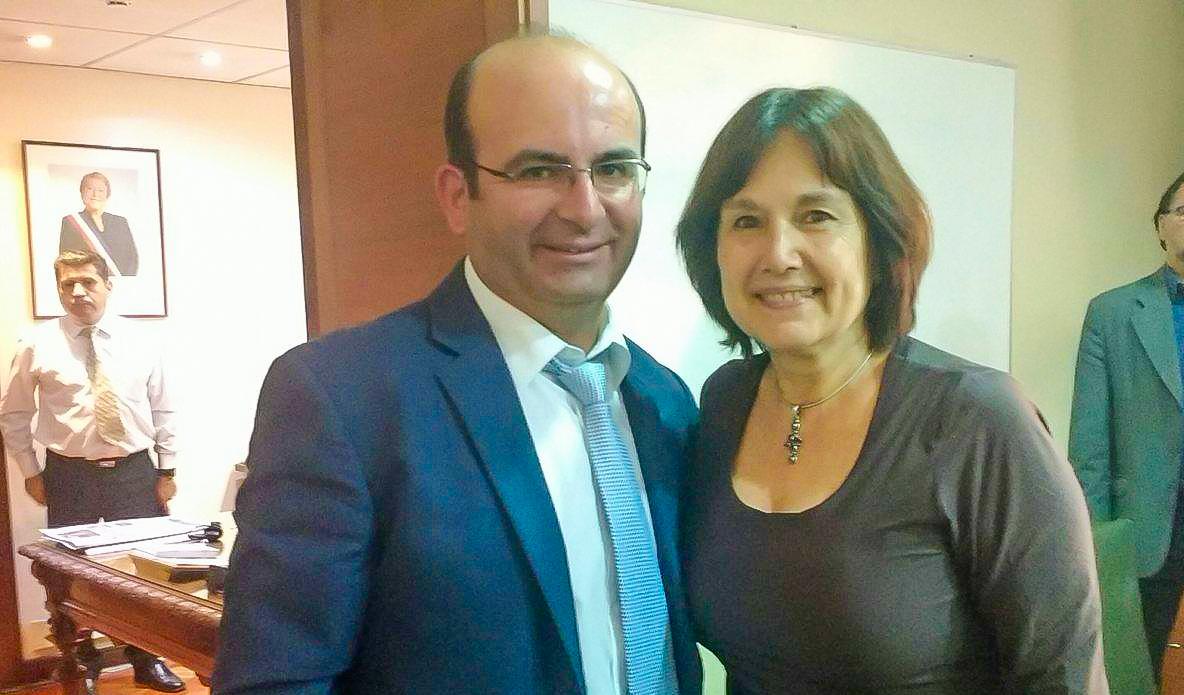 Importante audiencia en materia de Salud sostuvo alcalde Jaime Quilodrán y ministra de Salud Carmen Castillo