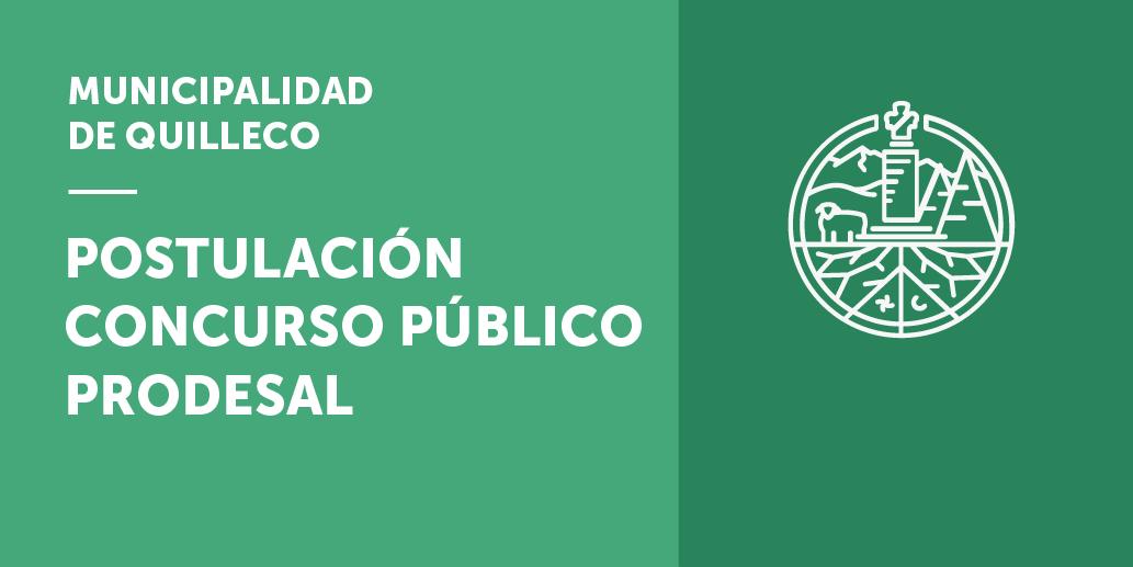 Llamado a concurso público para proveer el cargo de PRODESAL comuna de Quilleco, región de Bío-Bío