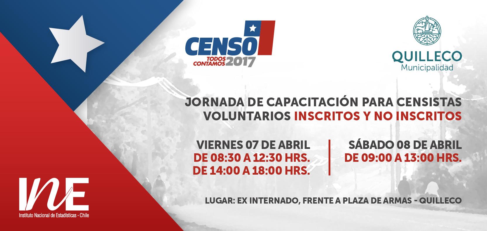 Jornadas de capacitación para censistas voluntarios.