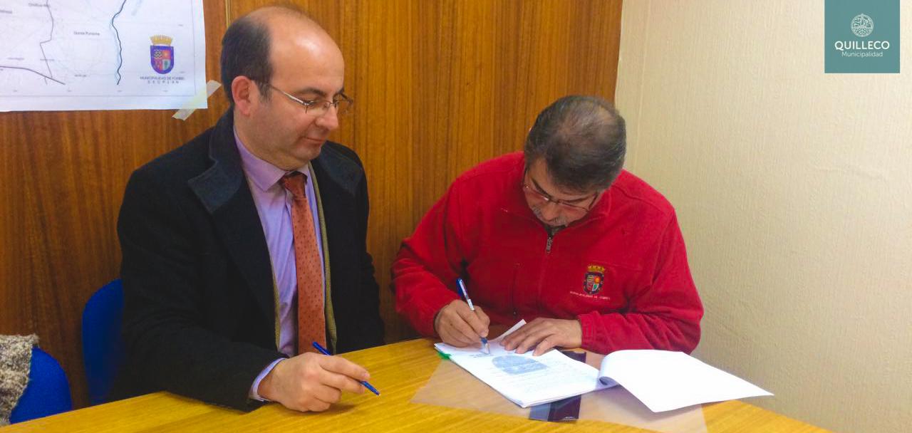 Hoy se firmó importante convenio entre Municipalidades de Quilleco y Yumbel