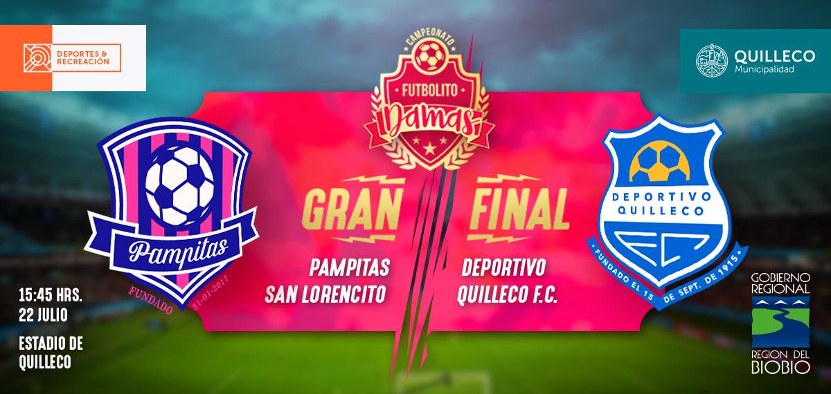 Gran final del 1er Campeonato de Futbolito Damas en la Comuna de Quilleco