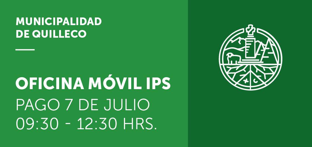 Atención de la Oficina Móvil IPS en pago del día 7 de Julio en Quilleco