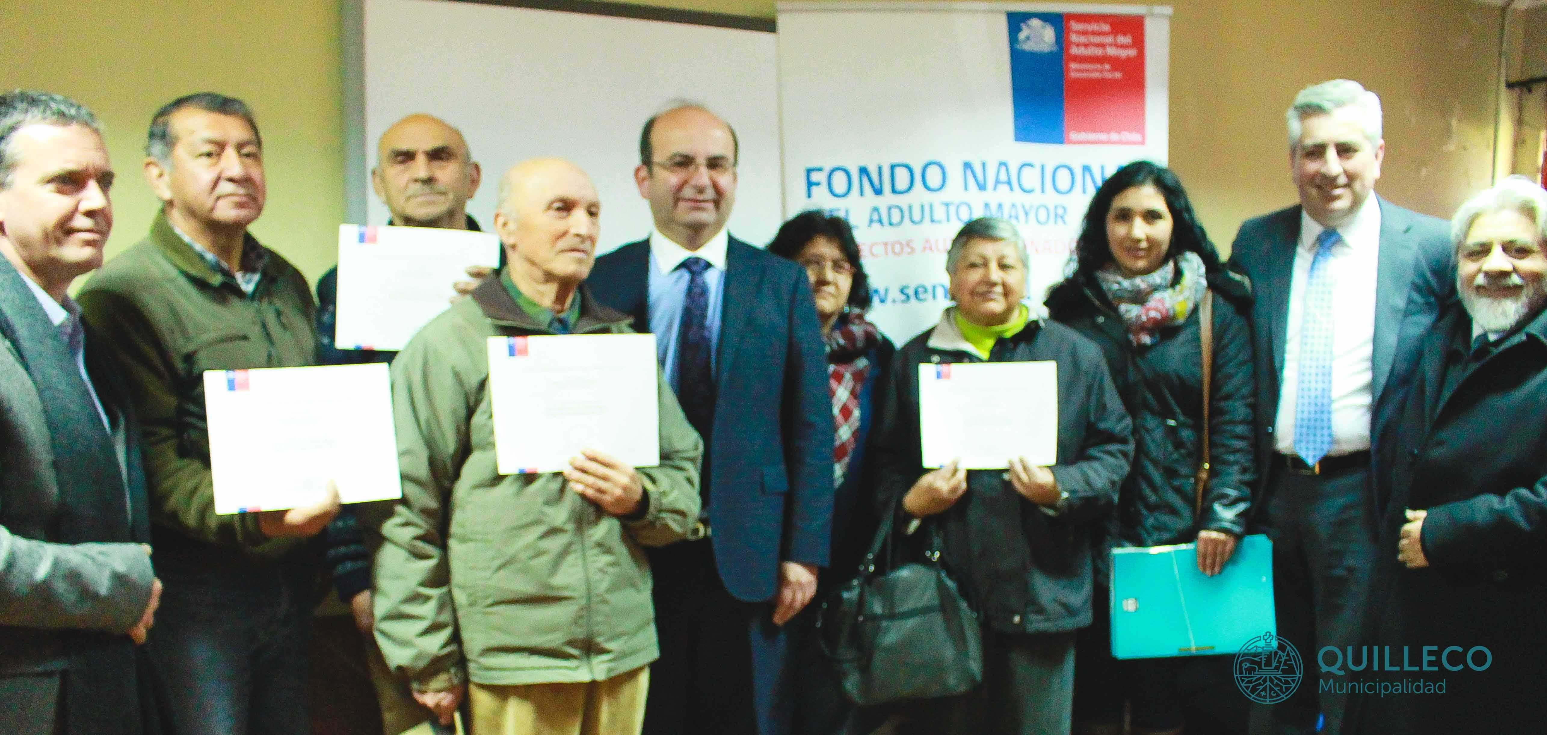 Fondo Nacional del Adulto Mayor hizo entrega de certificados a organizaciones de la Comuna de Quilleco.
