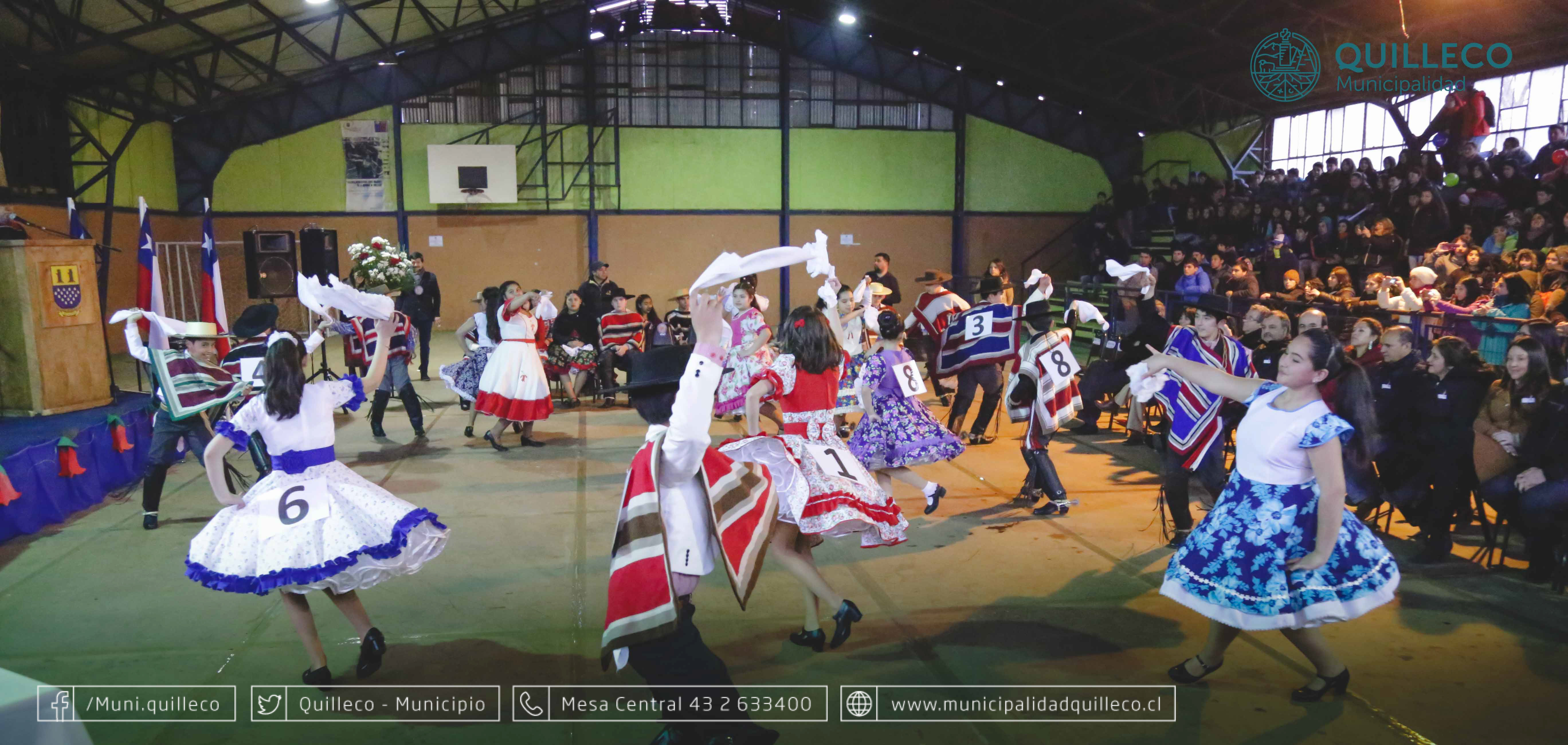 Con gran convocatoria se realizó Campeonato Comunal de Cueca Escolar 2017