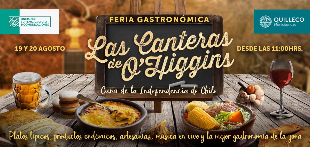 Feria gastronómica y acto oficial con motivo del 239º aniversario del natalicio de Bernardo O'Higgins Riquelme.