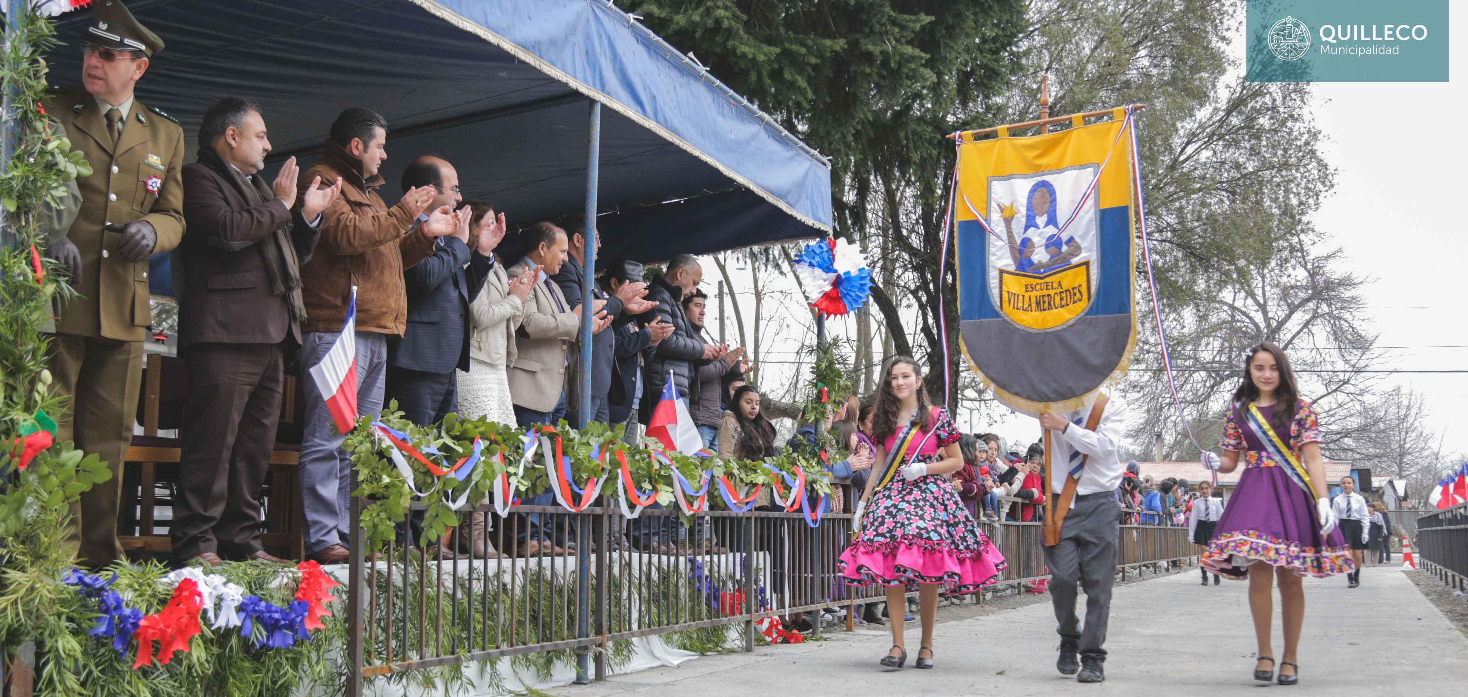 Escuela de Villa Mercedes encabezó acto y desfile con motivo del aniversario patrio 2017