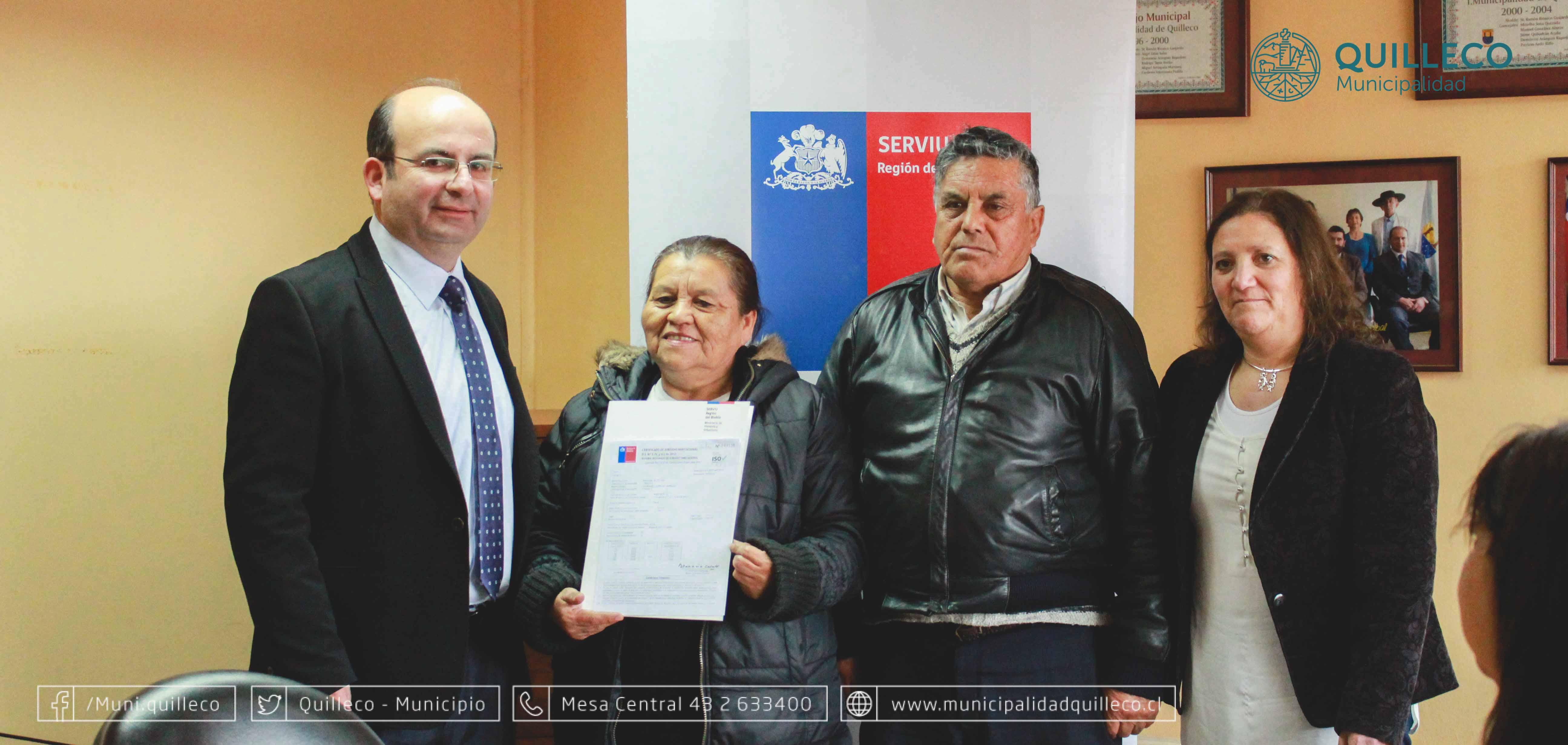 Entrega de certificados de SUBSIDIOS DS 01 en nuestra comuna