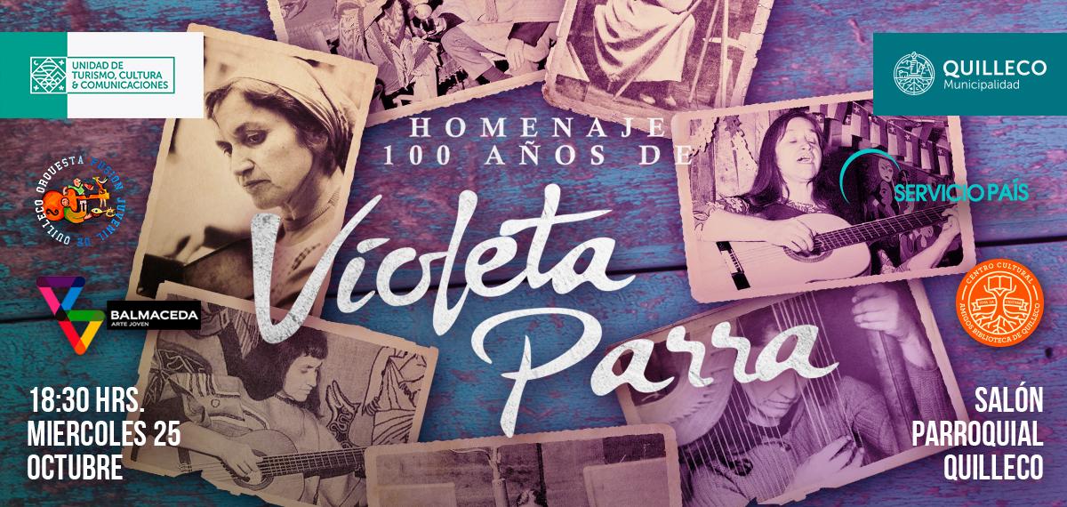 La Comuna de Quilleco rinde homenaje a los 100 años del nacimiento de Violeta Parra