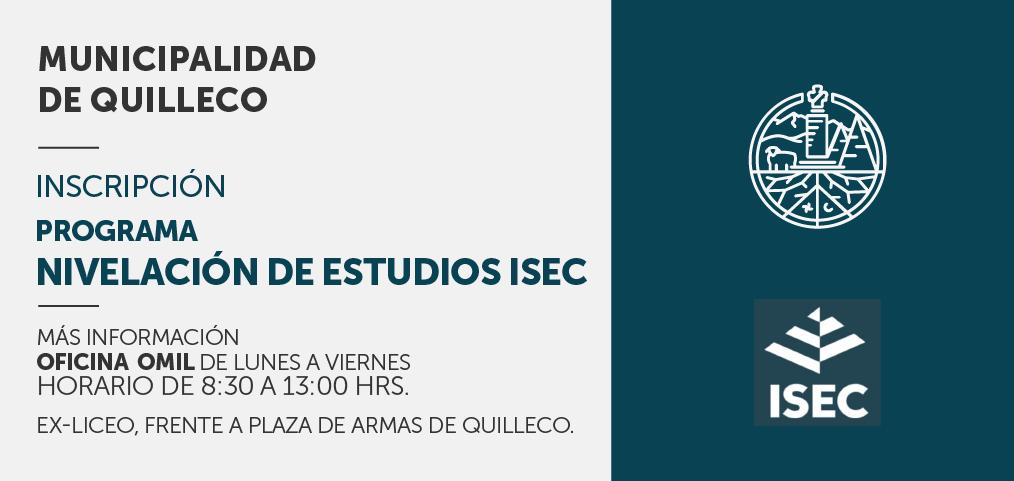 Ya están abiertas las matrículas para el programa gratuito de Nivelación de Estudios del Instituto ISEC
