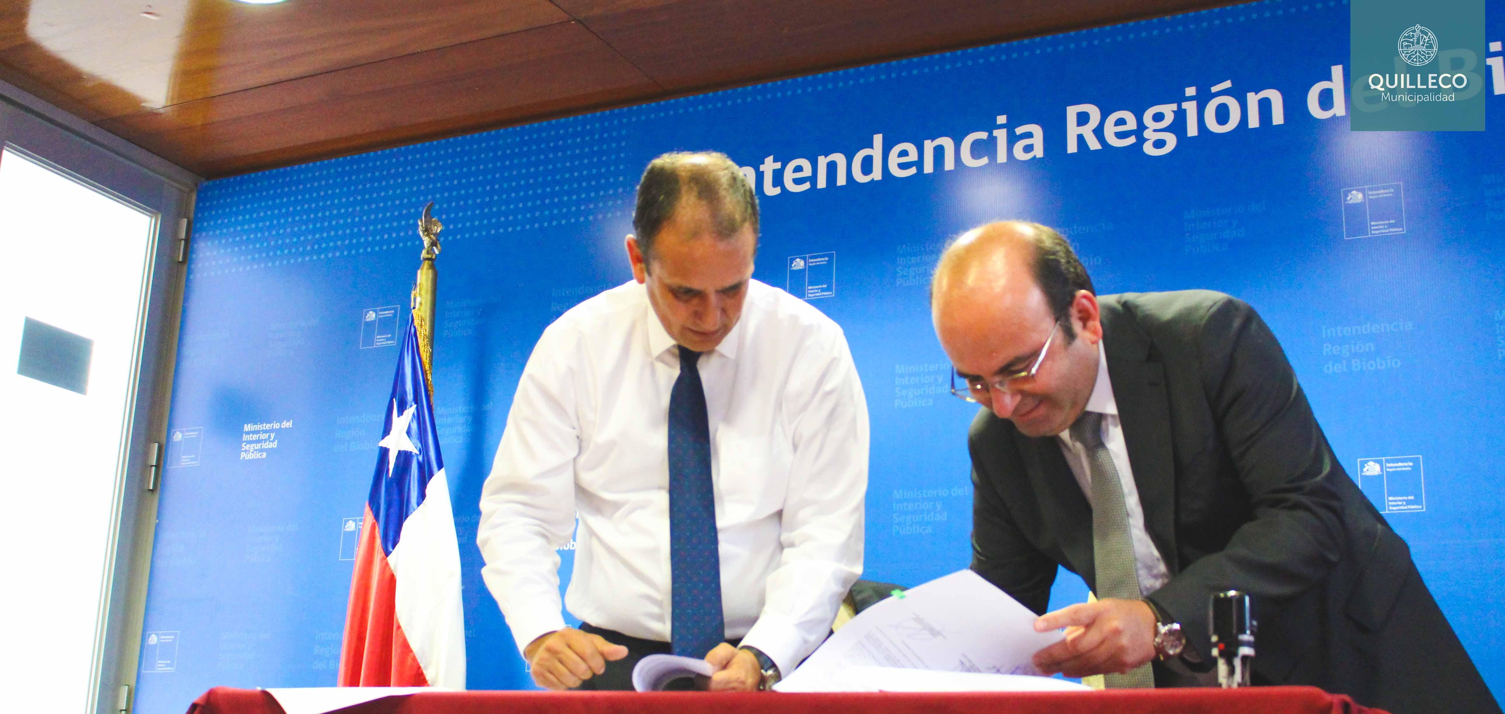 En Concepción, nuestro alcalde Jaime Quilodrán firmó 2 convenios del Fondo Regional de Iniciativa Local (FRIL)
