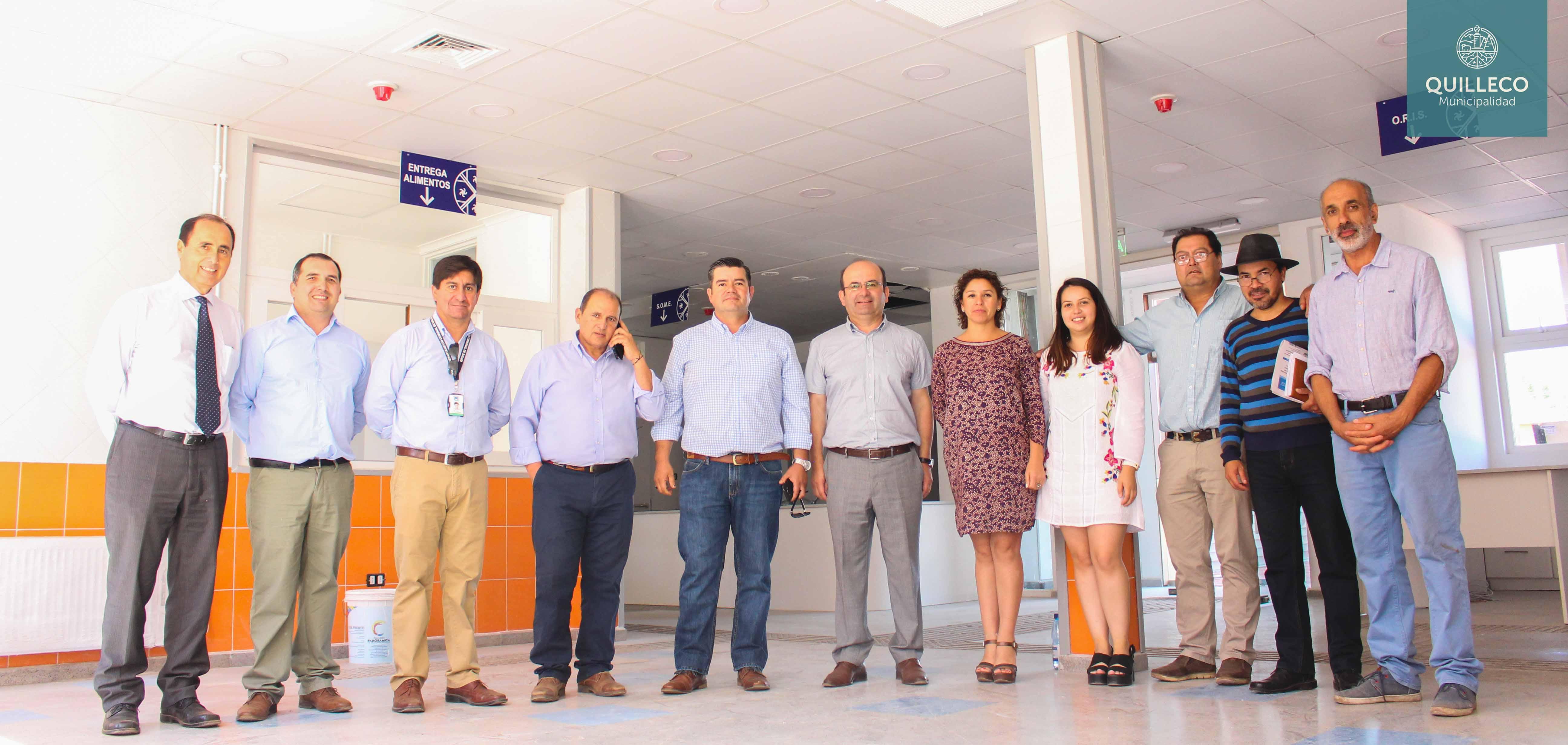 Alcalde y concejo en pleno visitan las dependencias de futuro nuevo CESFAM Quilleco, el cual se encuentra próximo a entrar en funcionamiento.