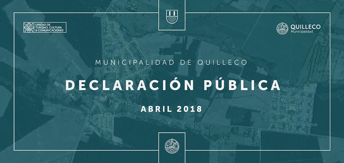Declaración pública Municipalidad de Quilleco.