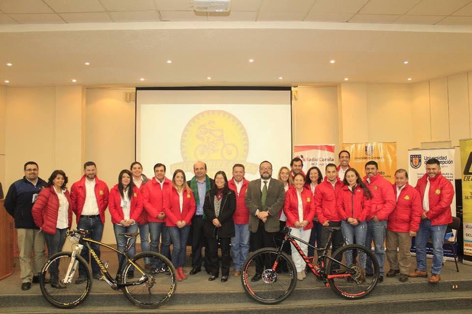 """Nuestro alcalde Jaime Quilodrán asistió al lanzamiento de la carrera: """"Admirando la Precordillera""""."""