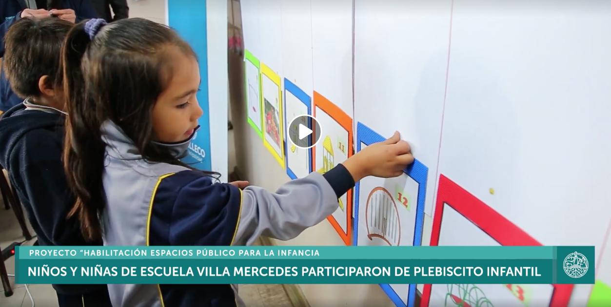 Niños y niñas de escuela Villa Mercedes realizaron primer plebiscito Infantil para elegir juegos infantiles