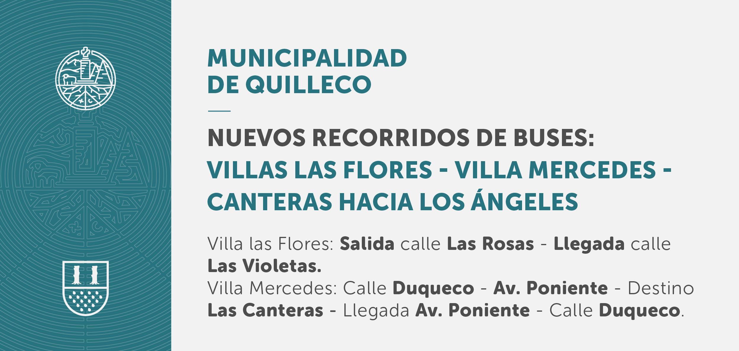 Informativo sobre nuevos recorridos de buses desde Villa Las Flores – Villa Mercedes