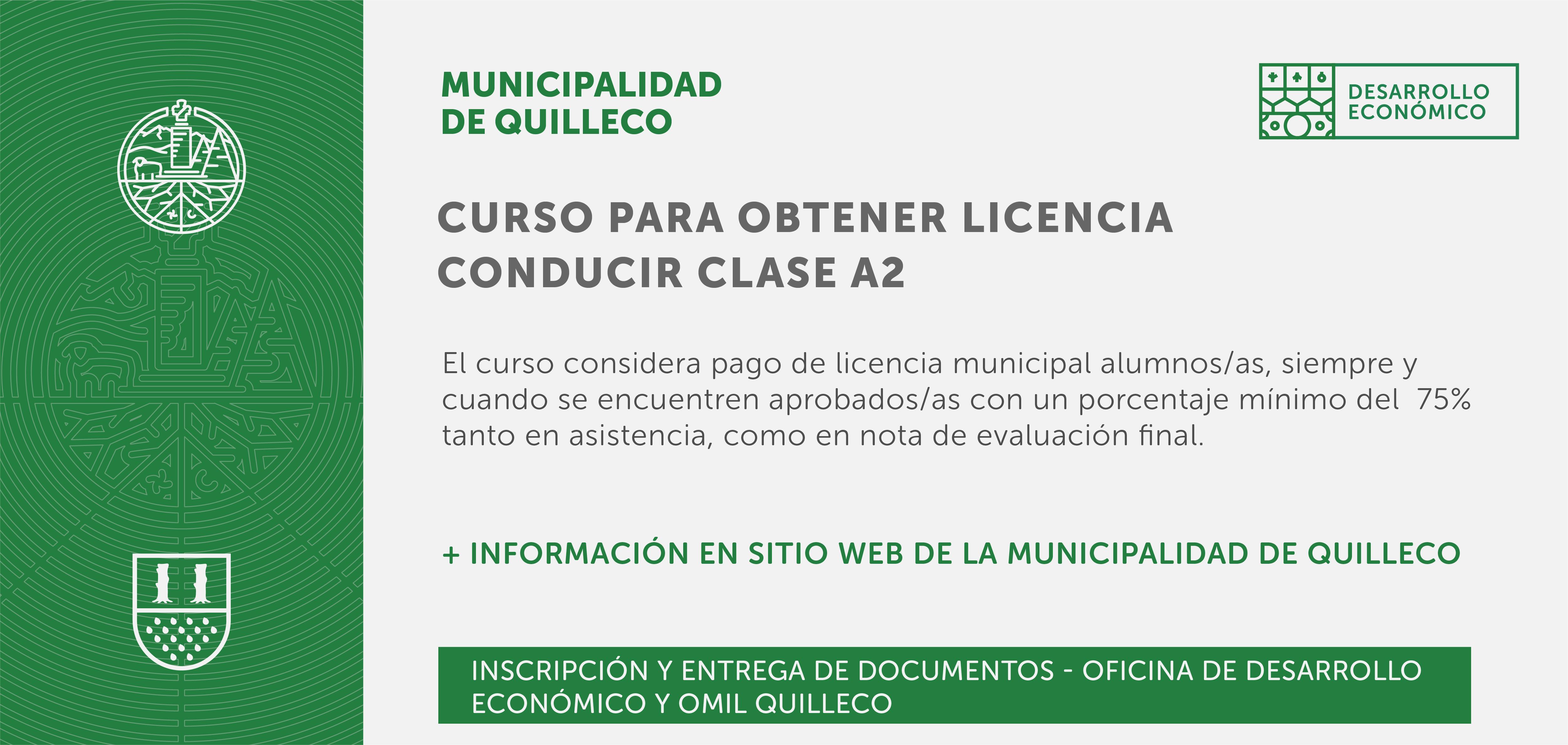 La Unidad de Desarrollo Económico hace el llamado para acceder a los cupos del curso para obtener Licencia Conducir Clase A2