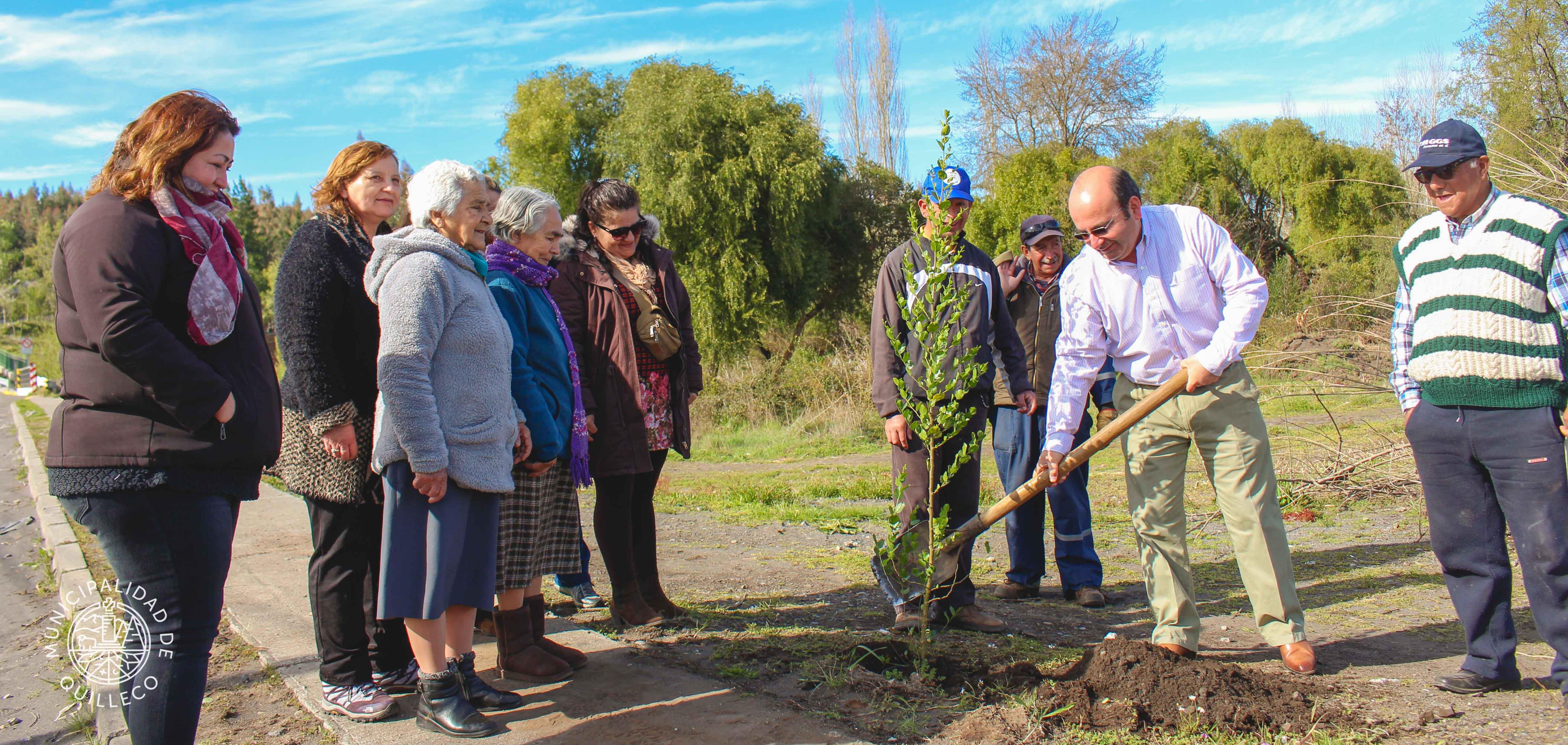 Sumando acciones concretas en materia de reforestación nativa y conservación del medio ambiente en la comuna.