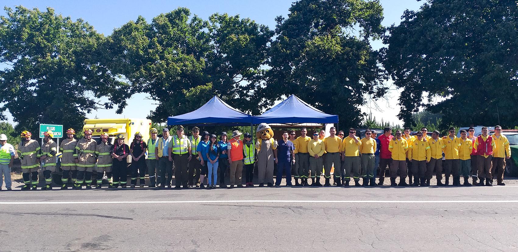 Inédito Operativo Carretero liderado por el municipio logró concientizar a cientos de conductores en materia de Prevención de Incendios Forestales