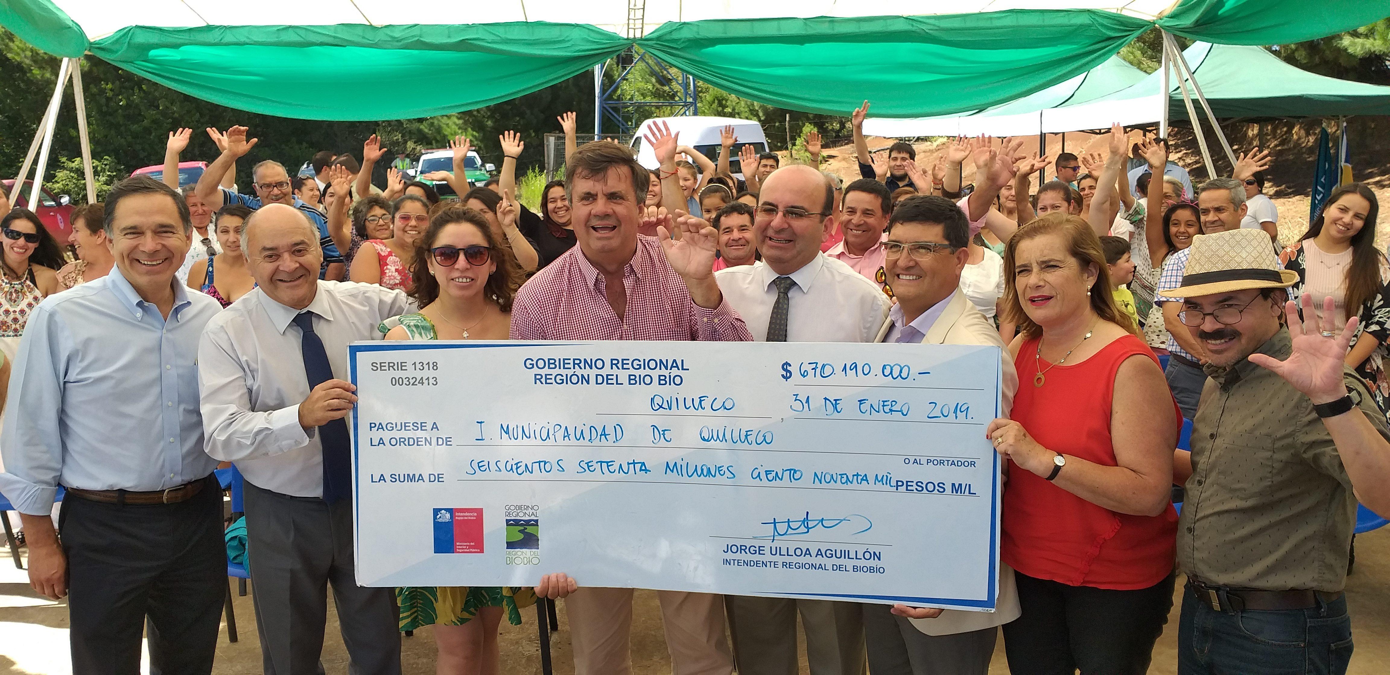 Gobierno Regional traspasa  recursos  al municipio para Alcantarillado y Agua Potable  en población Juan Pablo II y Santa Elena.