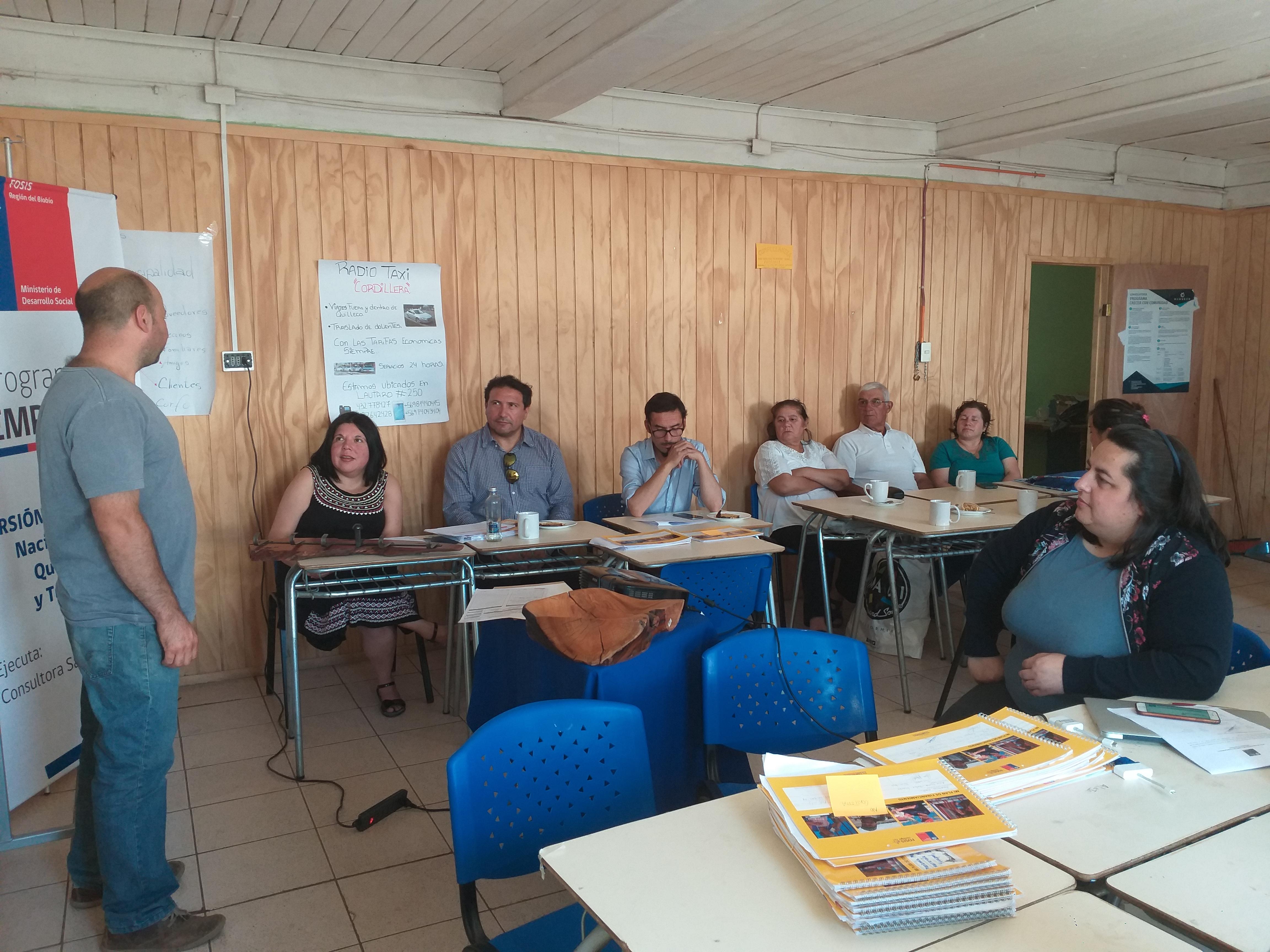Vecinos  de Quilleco participan del Programa Yo Emprendo del Fosis