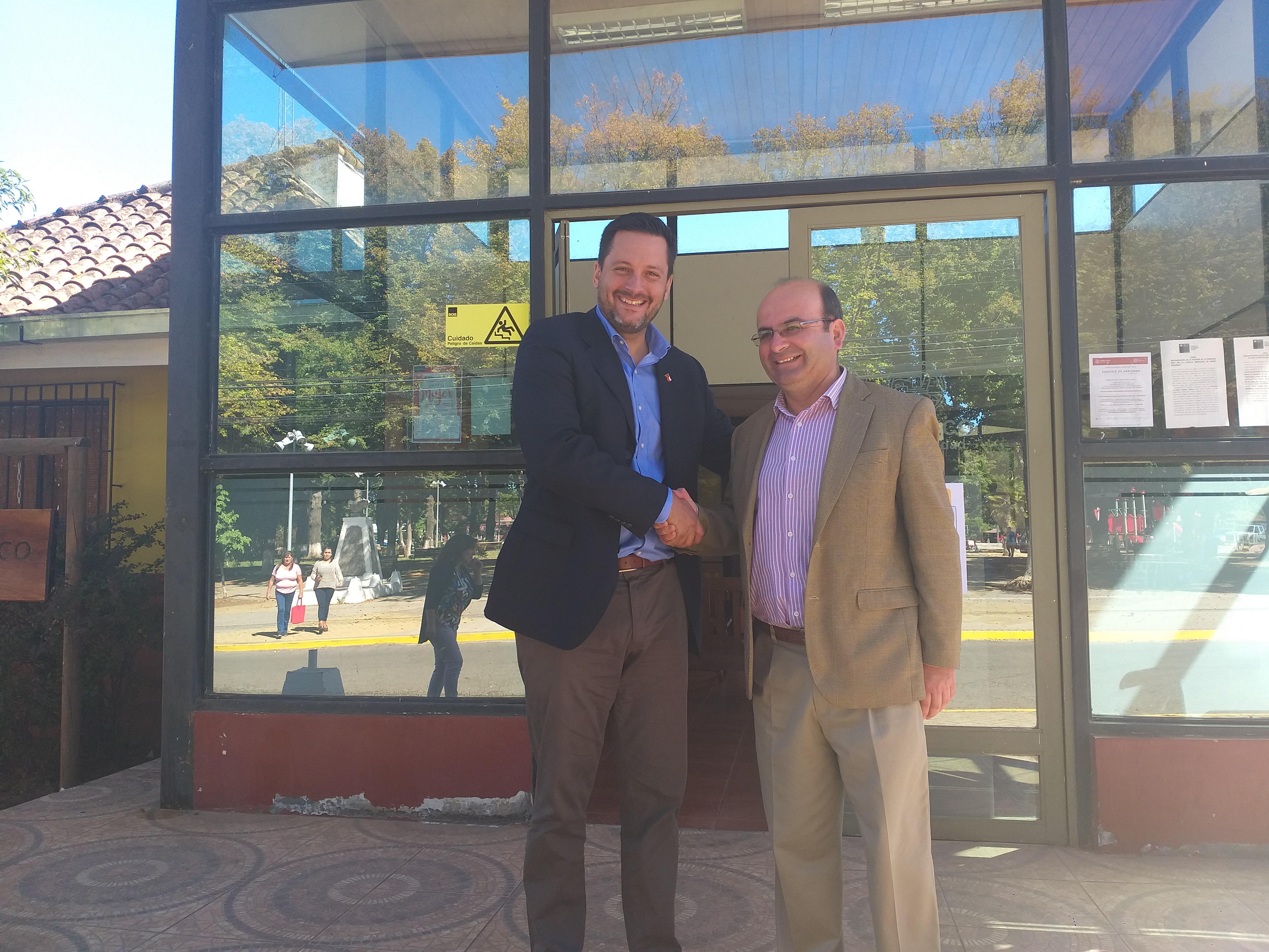 Alcalde Jaime Quilodrán se reúne con nuevo Delegado Provincial de Serviu