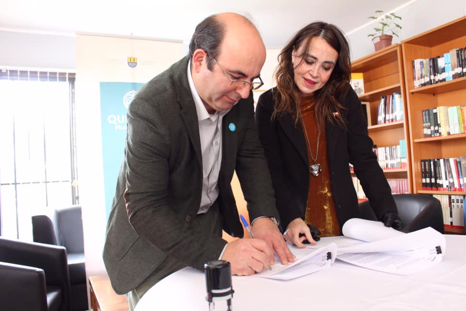 Alcalde Jaime Quilodrán y Seremi de Cultura Firman Convenio para implementar el Plan Municipal  de Cultura