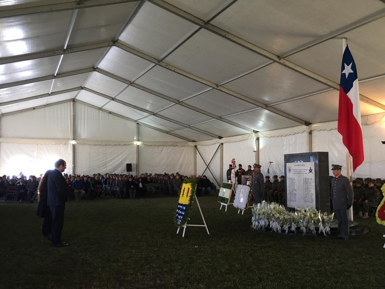 Un sentido Homenaje a los 44 conscriptos y al Sargento fallecido en la tragedia de Antuco del 2005 se llevó a cabo  en el Regimiento de Montaña  de Los Ángeles