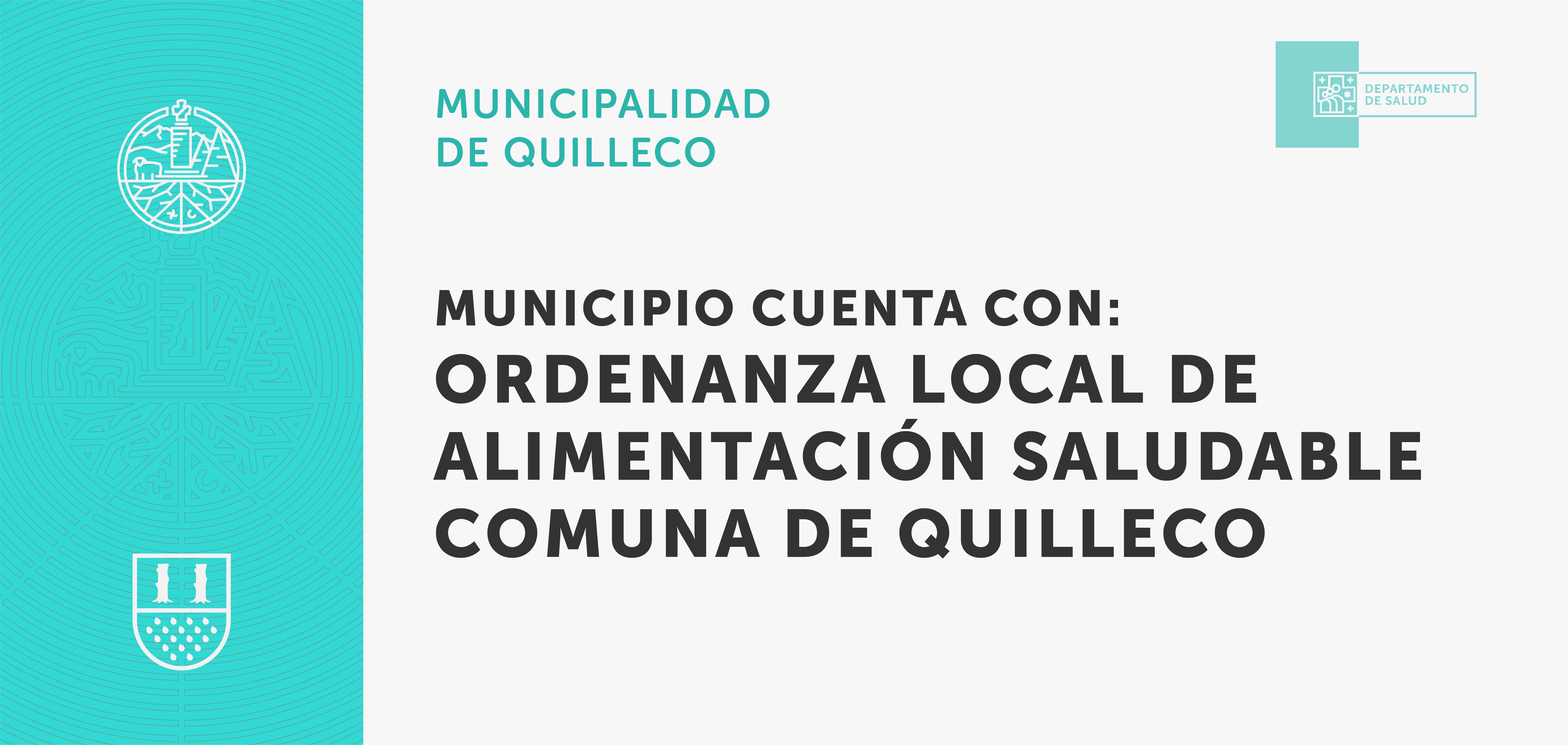 Municipio cuenta con ordenanza local de alimentación saludable comuna de Quilleco