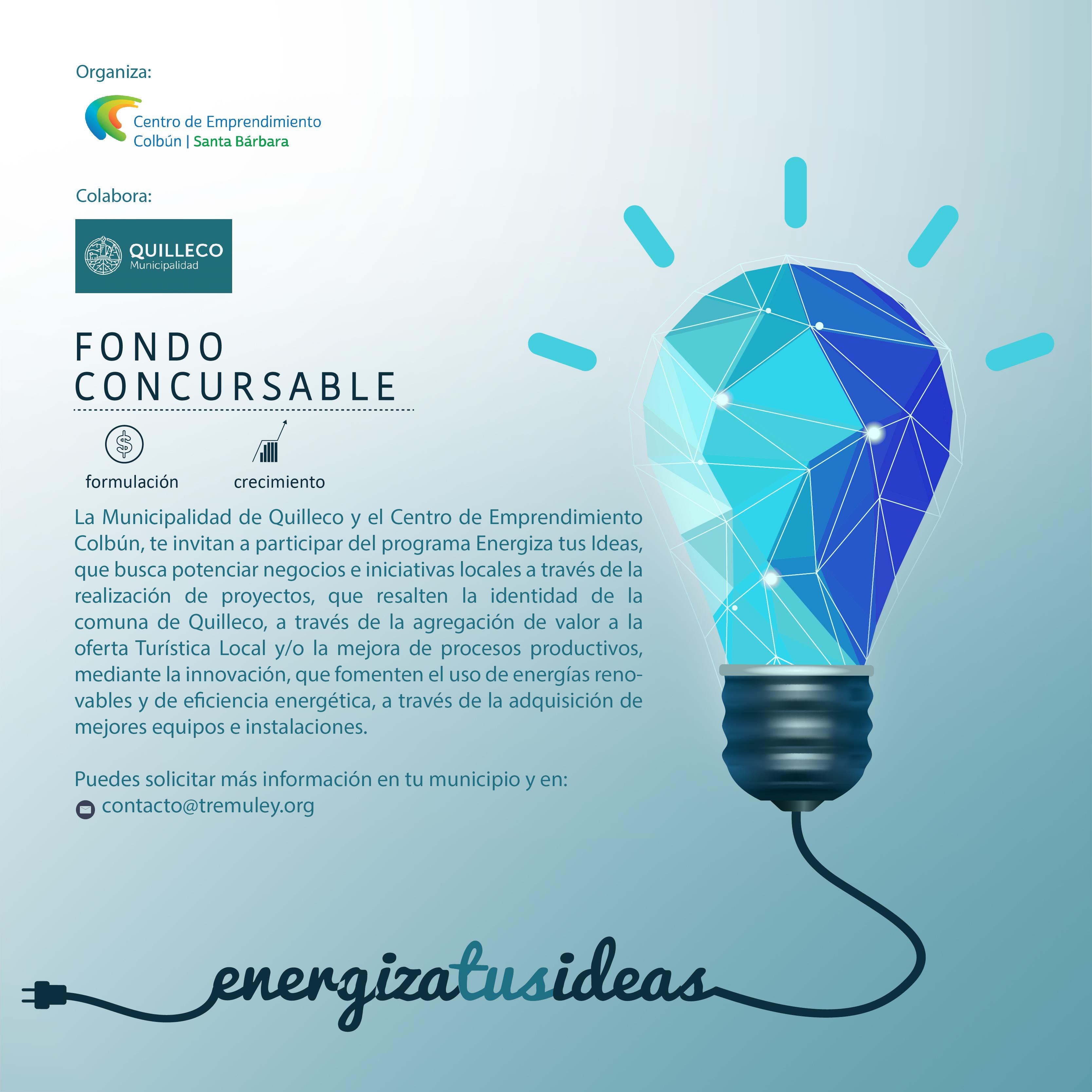 Programa Energiza Tus Ideas de Colbún apoyando las ideas de negocios en el ámbito Local