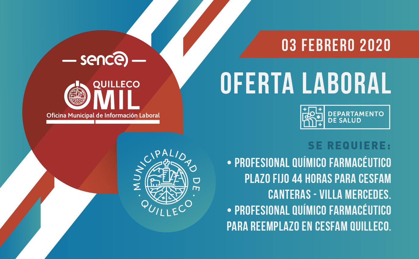 OFERTA LABORAL – MUNICIPALIDAD DE QUILLECO