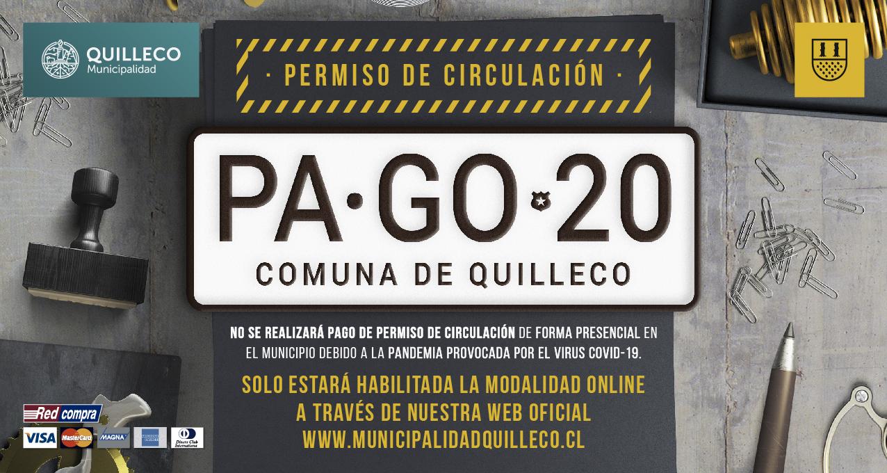 INFORMACIÓN IMPORTANTE ACERCA DEL PAGO DE PERMISO DE CIRCULACIÓN Y SOAP 2020