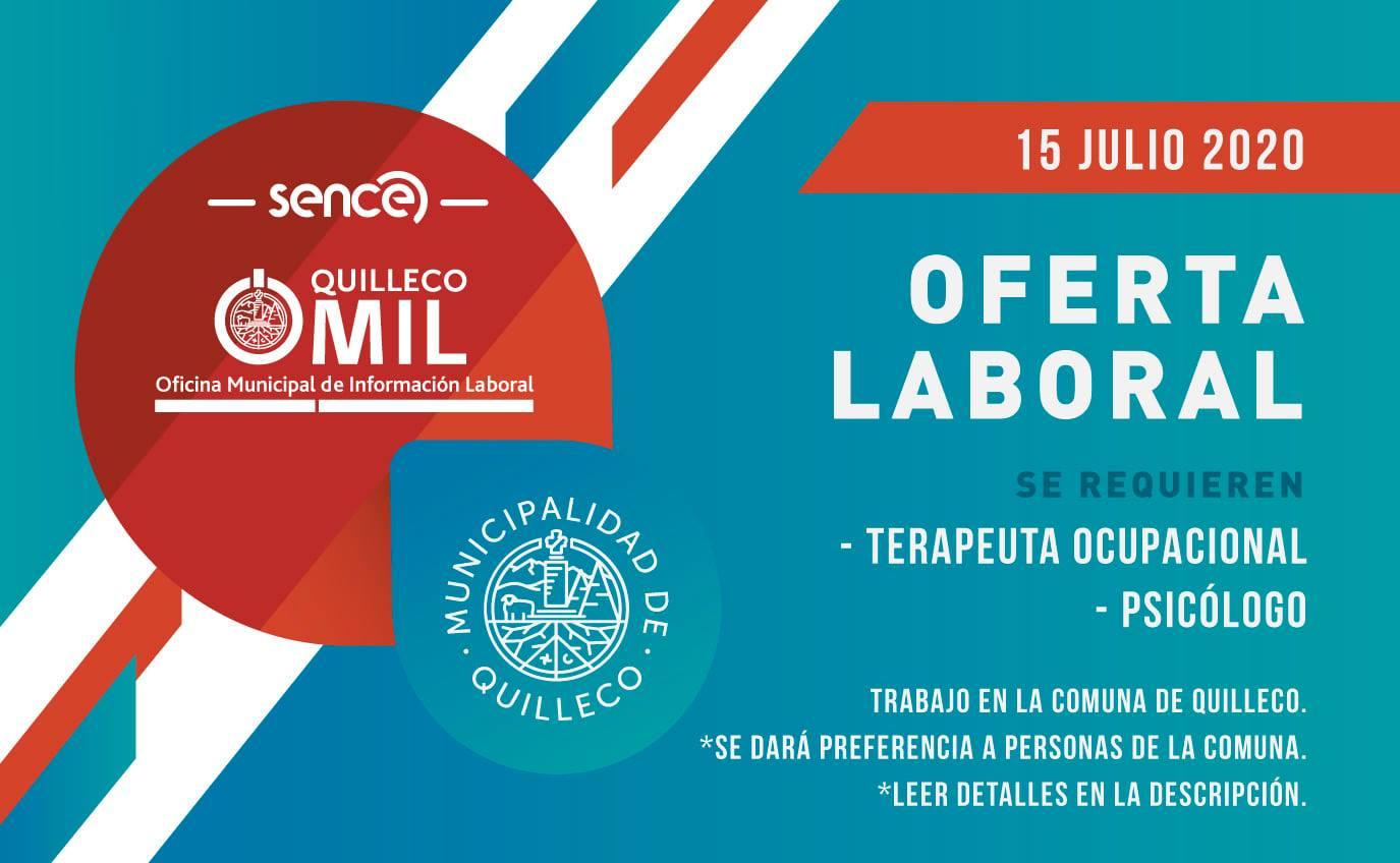 OFERTA LABORAL / OMIL QUILLECO