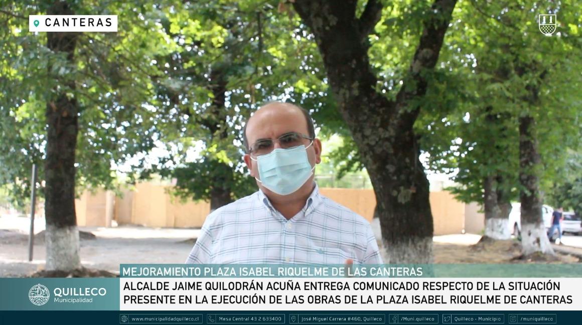 COMUNICADO OFICIAL SOBRE MEJORAMIENTO DE LA PLAZA ISABEL RIQUELME DE LAS CANTERAS