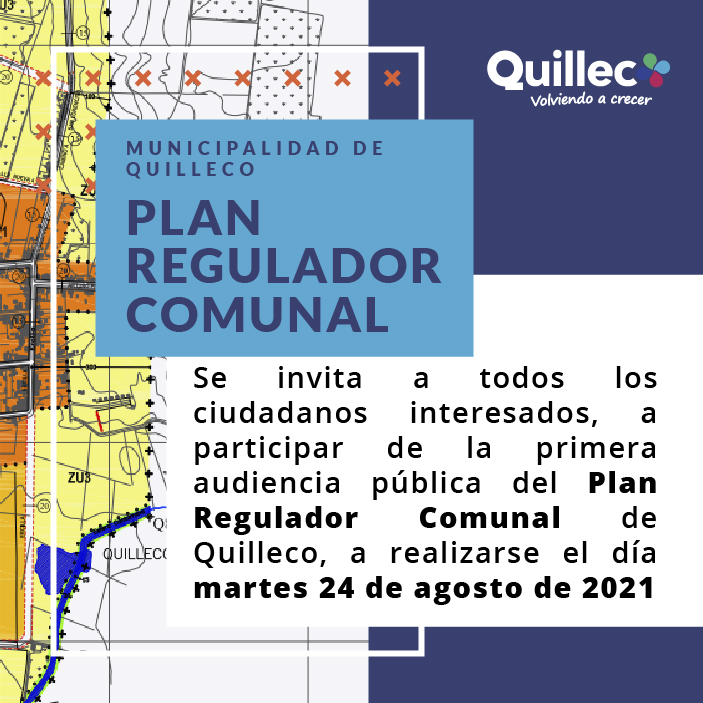 AVISO – PLAN REGULADOR COMUNAL DE QUILLECO 2021